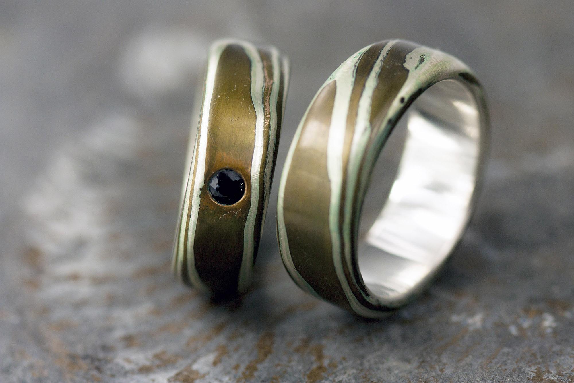 Mokume bronze silber 1web